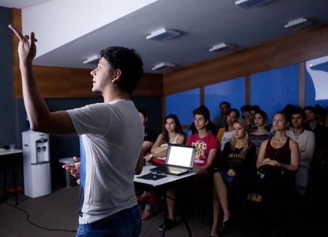 Marcio lecturing 2